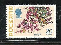 Album Treasures Bermuda Scott # 323  20c  Flower Coralita  Mint NH
