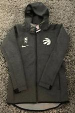 New Toronto Raptors Nike Showtime Therma Flex Hoodie Size Small Grey Black