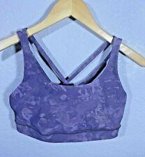 Women's LULULEMON Purple Floral Sports Bra Size 8