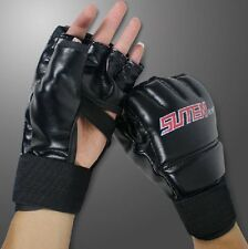 MMA Muay Thai Training Punching Bag Half Mitts Sparring Boxing Handschuhe DE