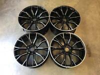 "20"" 669M G30 Style Alloy Wheels Gloss Black Milled Spoke BMW 5x112 G30 G31"
