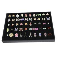 100 Grid Velvet Ring Earring Brooch Jewelry Storage Display Box Case Tray
