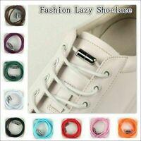 Quick Tie Lazy Shoe Laces String Locking Elastic Buckle Shoelaces For Sneak X3D2