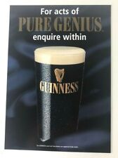 Guinness Collectable Advertising Pub Bar Sign Guiness Vintage 21 x 15 cm
