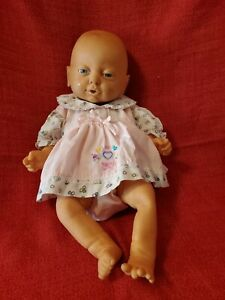 "18"" Vintage Vinyl Anatomically Correct Girl Baby Doll EMSON 1988"