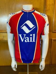 Voler Vail Beaver Creek SOS Eco Sports 3/4-Zip Cycling Bike Jersey Men's XL