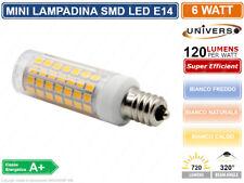 MINI LAMPADINA CORN LED SMD 2835 E14 6W WATT 720 LUMEN 3000K - 4000K - 6000K