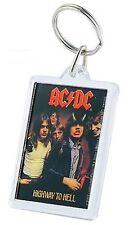 AC/DC-Highway to Hell-Acrilico KEYRING KEYCHAIN PORTACHIAVI-Look Usato