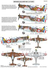 "Berna Decals 1/48 MORANE MS.406 ""LA FURIE"" French WWII Fighter"