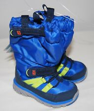NWOB Stride Rite Made 2 Play Toddler Boys Blue Fleece Lined Sneaker Boots sz 4.5