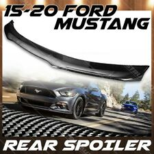For 15-20 Ford Mustang Gloss Carbon Fiber B Style Rear Trunk Wing Spoiler Lid