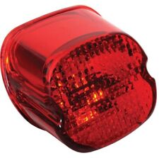 Red Taillight Lens LayDown Design  Bottom License Window Harley 1999-Early 2003