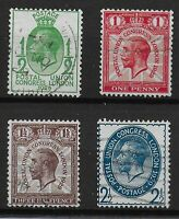 SG434-7. 1929 PUC Low Values Set Of 4. VFU With Fresh Original Colours. Ref:0586