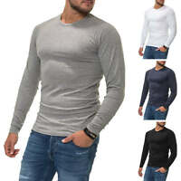 Jack & Jones Herren Langarmshirt Basic Shirt Herrenshirt Multi Color Mix NEU