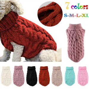 Puppy Dog Knitted Jumper Sweater Winter Warm Pet Clothes Small Dogs Coat S-XL