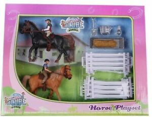 KID640072 - Pack Equestrian With Animals Characters And Accessories