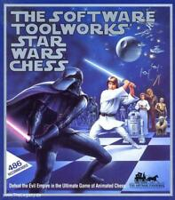 Star Wars Chess + Manual PC CD sci-fi movie themed animated empire board game!