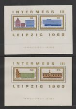 Germany (East) - 1965, Anniversary of Leipzig sheets x 2 - MNH - SG E844/7