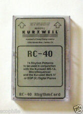 Kurzweil Rom Card Rc-40, for Ms-1A, MicroSequencer, And Mark Iv, Egp Pianos Rare
