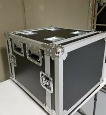 """8U Roadcase with rails on both front and back, Comes with 4"""" Casters, 18"""" Deep"""