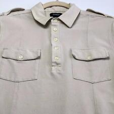 Express Men's Polo Pullover Shirt Small S Beige Two Pockets Casual