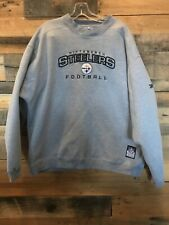 XL Men's Reebok NFL Pittsburgh Steelers Embroidered Heavyweight Gray Sweatshirt