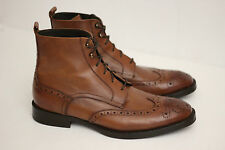 To Boot New York Brentwood Wingtip Boots- Vitello Cuoio Brown Leather - 9US (F5)