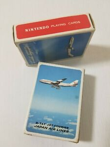 Nintendo Retro Mini Playing Cards JAL Japan Airlines B-747 Set of 2 Japan 1980s
