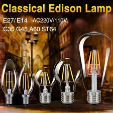 E27 4/8/12W Edison Retro Filament COB LED Bulb Vintage Candle Light G45 A60 Lamp