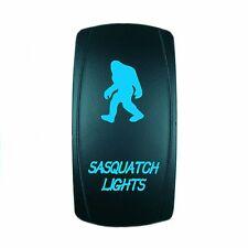 Motor Laser 12V 20A Toggle Rocker Switch BLUE LED SASQUATCH LIGHT Lighted