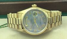 Rolex 18k Yellow Gold Day Date President MOP Dial Watch 18038 Box & Serviced
