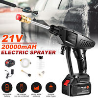Portable Cordless Electric Pressure Washer Powerful Wash Jet Patio Car Cleaner