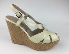 Salvatore Ferragamo Womens Patent Leather Gladiator Sandals Wedge Heels US 9.5