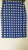 Topshop Checked Pencil Smart Hessian Style Skirt Size 8