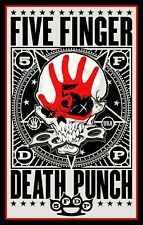 "5"" Five Finger Death Punch vinyl sticker. 5FDP Heavy Metal decal for car, guitar"