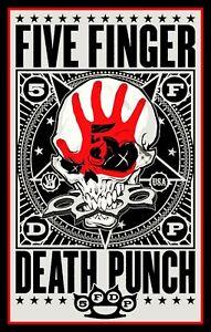 "5"" Five Finger Death Punch vinyl sticker. 5FDP Heavy Metal decal for car, guitar"