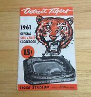 Detroit Tigers Official 1961 Tiger Stadium Scorebook Program Magazine