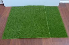 2 Piece of Turfs Artificial Turf Grass DIY Miniature Landscape For Doll House