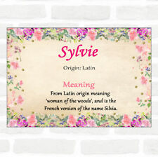 Sylvie Name Meaning Floral Certificate