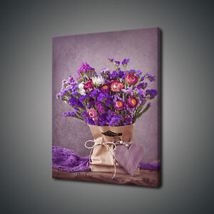 LILAC FLOWERS PURPLE CANVAS PRINT PICTURE WALL ART FREE FAST DELIVERY