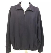 Melton By Evergreen Mens Jacket L Full Zip Streetwear Rockabilly Blue XL