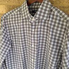 Mens 16.5 HUGO BOSS Black Label -SLIM FIT- Dress Shirt Gray Check 6c