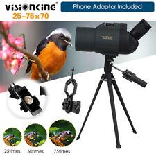 Visionking 25-75X70 Telescope Zoom Spotting Scope Monocular+Tripod+Phone Adapter