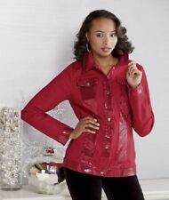 size 12 Red Livia Sequin Jacket by Ashro new