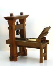 Holz-Hoerz Gutenberg Printing Press RARE  / WORKING Artisan Dollhouse Miniature