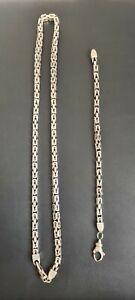 Königskette silber 925 mit Armband massiv 155 Gram