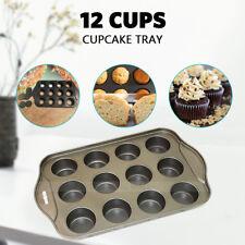 Heavy Duty 12Cup Non-stick Mini Cheesecake Cake Pan Loose Base Cheese cake Tin