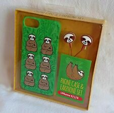 Sloth - Phone Case & Earphone Set - For iPhone 6/7/8 - Brand New