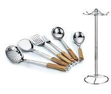 HILLPOW 6-Piece Premium Kitchen Stainless Steel Cooking & Serving Utensil Set