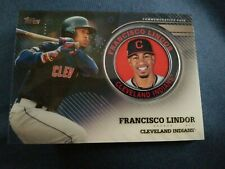 2020 Topps Series 2 Parallel Francisco Lindor Medallion Coin #TPM-FL /199
